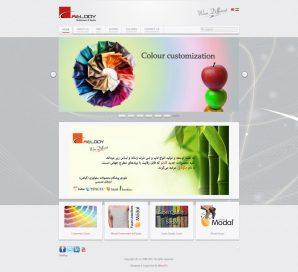 طراحی وب سایت برند تولیدی ملودی - کادنو سابق